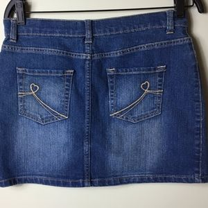 1989 Place Girl's Denim Adjustable Jean Skirt